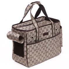 Lovable Dog Pet Luxury Tote  Size S TaupeBrown ** See this great product.
