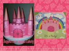 Castel cake and inspiration picture. Cake by Sapphires & Sequins Cakery.