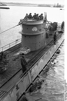 Submarine U-107 at Lorient in November 1941.