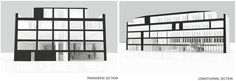 Hunt Library Addition: Transverse and Longitudinal Sections Iteration #kerrianfrance #48105-S15