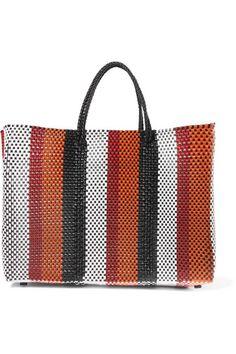 2d79e1fd88 Truss - Striped woven raffia-effect tote