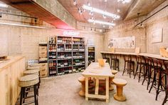 The Wondering Wine Kitchen is a pop-up wine kitchen. In they served a stonking drinks, including 85 pallets of wine! Old Street London, Pop Up Bar, Coffee Shops, Pallets, Wine Rack, Spice, Cocktail, Cabinet, Drinks