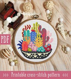 Beautiful cactus design from StitchingLand on Etsy! xx