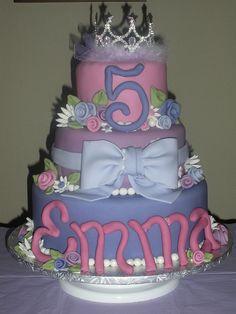 Girl's Birthday Cake princess tiara