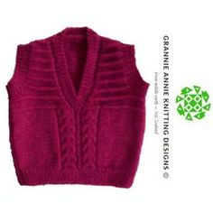 Toddler's Vest knitting pattern