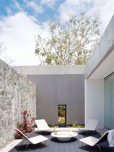 modern enclosed patio