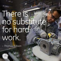 Work hard! #Edison #GE
