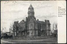 Court House, Cherokee County, Kansas - Kansas Memory Court House, Cherokee County, Kansas Five views of the Cherokee County courthouse, located in Columbus. Date: Between 1905 and 1950