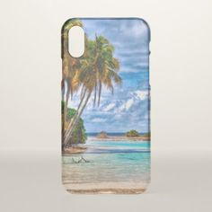 Cute Pretty Summer Hawaiian Beach Watercolor iPhone X Case - watercolor gifts style unique ideas diy