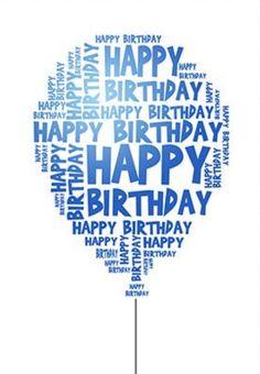 Blue Birthday wishes Happy Birthday Text, Happy Birthday Balloons, Happy Birthday Pictures, Blue Birthday, Happy Birthday Quotes, Happy Birthday Greetings, Birthday Messages, Birthday Fun, Happy Birthday Sweet Lady