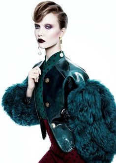 Candy Darling | Karlie Kloss by Tom Munro for Numéro No. 127 October 2011