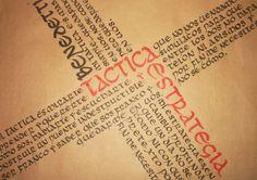 Tipografía//UNCIALES by Paula López, via Behance