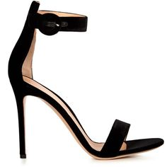 Gianvito Rossi Portofino velvet sandals ($615) ❤ liked on Polyvore featuring shoes, sandals, gianvito rossi, heels, sapatos, kohl shoes, gianvito rossi shoes, heels stilettos, stiletto shoes and stiletto heel shoes
