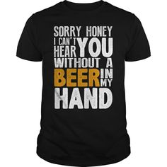 BEER IN MY HAND T-Shirts, Hoodies. GET IT ==► https://www.sunfrog.com/LifeStyle/BEER-IN-MY-HAND-Black-Guys.html?id=41382