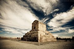 The Tomb of Cyrus the Great in Pasargadae, Iran.     Creator of the first charter of Human Rights.
