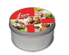 Scatole di Latta Tonda Four Love - Fotoregali.com