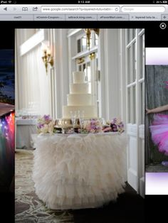 Brides cake table