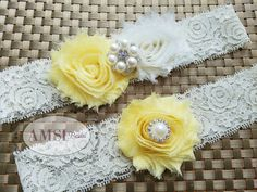 Wedding Garter Garter Belt wedding garter set Bridal garter Lace garter Romantic…