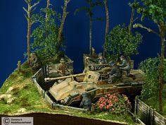 Diorama Grundplatte 49/4 Panzerstellung , 30 x 25 cm, 1:35 - Diorama Shop Weiß - Diorama und Modellbau Werkstatt Diorama Ideas, Military Diorama, Panzer, Model Building, Pallet Projects, Troops, Scale Models, Vignettes, Wwii