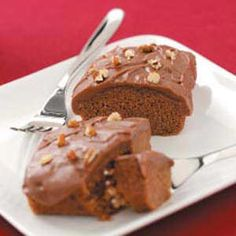 """Tiny Texas Sheet Cakes Recipe -These tiny sheet cakes boast a homemade chocolate flavor as big as Texas itself, reports Hope Meece from her home in Ambia, Indiana. """"The cakes are moist, freeze well unfrosted and always bring compliments,"""" she adds. Mini Desserts, Small Desserts, Just Desserts, Dessert Recipes, Dinner Recipes, Japanese Desserts, Crab Cakes, Sheet Cake Recipes, Sheet Cakes"""