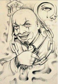 Prison Drawings, Badass Drawings, Chicano Drawings, Chicano Tattoos, Dark Art Drawings, Body Art Tattoos, Tattos, Skull Tattoo Design, Tattoo Design Drawings