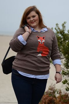 first post on infinitejest.com    love this old navy fox sweater!!!