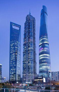 Shanghai towers Shanghai China.