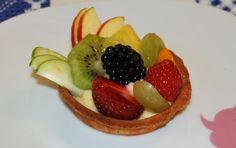Tartaleta de crema y frutas