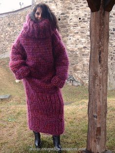 over the top sweater dress Sweater Dress Outfit, Cowl Neck Sweater Dress, Cardigan Sweaters For Women, Sweater Outfits, Knit Dress, Sweater Dresses, Turtleneck Dress, Women's Sweaters, Long Cardigan