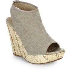 Stuart Weitzman Espadrille Wedge Sandals ($165) ❤ liked on Polyvore featuring shoes, sandals, apparel & accessories, grey, braided sandals, platform sandals, gray wedge sandals, espadrille sandals and wedge heel sandals