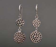 Double Disk Earrings by Anna Beck - Silverscape Designs