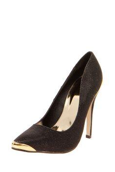 Tara Metallic Insert Shimmer Heels #heels #metallic