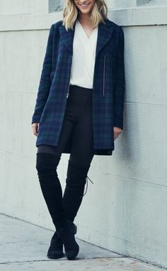 Can't wait to wear this gorgeous green and navy plaid coat when the days turn cool and crisp.