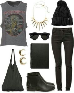 Black outfit.really cool!