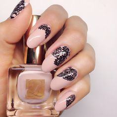 Lovely in LACE #nailart #karengnails