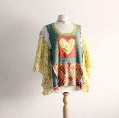 plus size bohemian clothing | ... Valentine Heart Gypsy Clothing Women's Plus Size Hippie L XL 'HETTIE