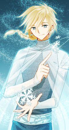 Fai D. Fluorite from CLAMP's Tsubasa RESERVoir CHRoNiCLe as Elsa in Disney's Frozen. I ♥ this so hard.