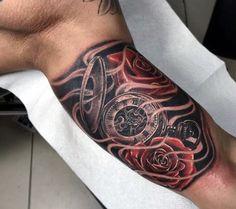 Clocks Tattoo For Men