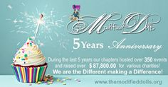 #ThrowbackThursday: Our non-profit organization, The Modified Dolls was founded 5 years ago. During the last 5 years our dolls and individual chapters have done some amazing things for various #charities and their local communities! Huge thanks to all our members and lovely supporters, who helped us to make our #charity events a success in the last years! We couldn`t make a difference without your help! <3 #ModifiedDolls #ModifiedWomen #NonProfit #CharityWork #SupportingCharities… Amazing Things, Non Profit, 5 Years, Fundraising, Charity, Birthday Cake, Success, Events, Organization