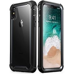 iPhone Xs Max Case, i-Blason [Ares] Full-Body Rugged Clear Bumper Case with Built-in Screen Protector for iPhone Xs Max Inch Release) (Black) Buy Iphone, Iphone 10, Apple Iphone 6, Iphone Cases Cute, Screen Protector, Full Body, Cover, Iphone Reviews, Phone Accessories