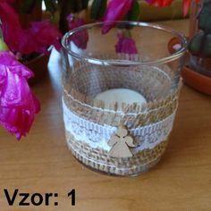 Sklenený svietnik Jarko - Sviečka - S čajovou sviečkou (plus 0,10€), Vzor - Vzor 1