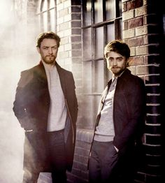 James McAvoy & Daniel Radcliffe of Victor Frankenstein photographed by Sarah Dunn for Empire Magazine (Nov 2015 issue)