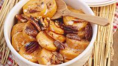Schnell auf dem Tisch: Süßkartoffelauflauf mit Pecannüssen   http://eatsmarter.de/rezepte/suesskartoffelauflauf-mit-pecannuessen