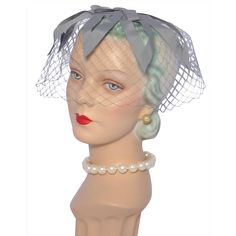 Vintage 1960s Skol Nips Gray Ribbon Whimsy Hat available at My Vintage Clothes Line on Ruby Lane