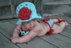 Bikini Beach Baby Bundle  SET Newborn to by ForgetMeKnotsCrochet, $60.00    beach wedding baby swimwear bikini crochet swimming clothing gift