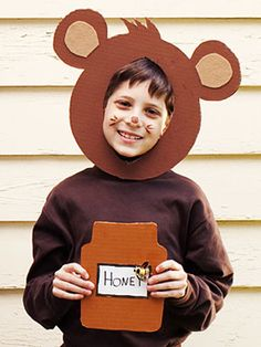 DIY No-Sew Fox Ears Halloween Costume, Animal Costume, Fantastic Mr.DIY No-Sew Fox Ears Halloween Costume, Animal Costume, Awesome Mr. Fox CostumeHocus-pocus: my Halloween Party Animals costumeHow To Make Lauren Conrad's DIY Deer Bear Halloween, Diy Halloween Costumes For Kids, Diy Costumes, Costume Ideas, Kids Bear Costume, Teddy Bear Costume, Last Minute Halloween Kostüm, Bear Mask, Children Costumes