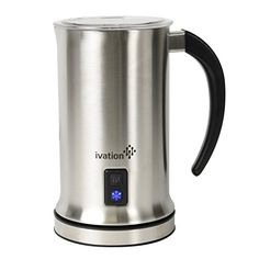 Ivation Cordless Automatic Electric Milk Frother  Warmer Steamer Mixer Cappuccino Maker  Rapidly Warms Heats  Steams  500ml 169oz ** Check this awesome product by going to the link at the image. (This is an affiliate link)