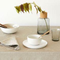 Afbeelding 1 van het product Taupe katoenen jacquard tafellaken en servetten met bloemen