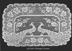 Peacock Buffet Scarf buffets, peacock inspir, buffet scarf, patterns, free pattern, peacock scarf, filet pattern, peacock buffet, crochet peacock