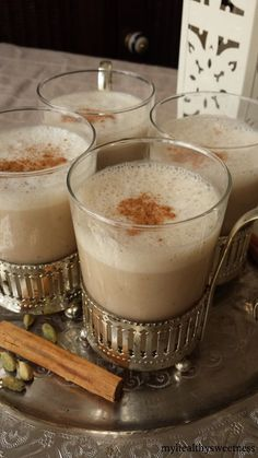 Lait de Datte aux Épices Juice Drinks, Smoothie Drinks, Yummy Drinks, Ramadan Sweets, Ramadan Recipes, Ramadan Diy, Iftar, Chia Pudding, Bubble Tea